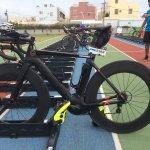 LWC WHEELSの装着例、トライアスロンのバイクトランジット